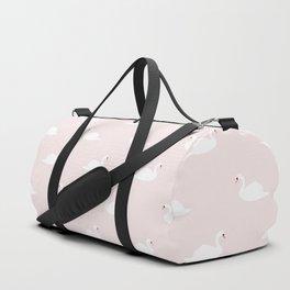 Swan pattern on pink 033 Duffle Bag