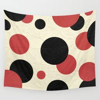 polka Wall Tapestries featuring Ladybird Polka by Paula Belle Flores