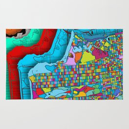 San Francisco Color Burst Rug