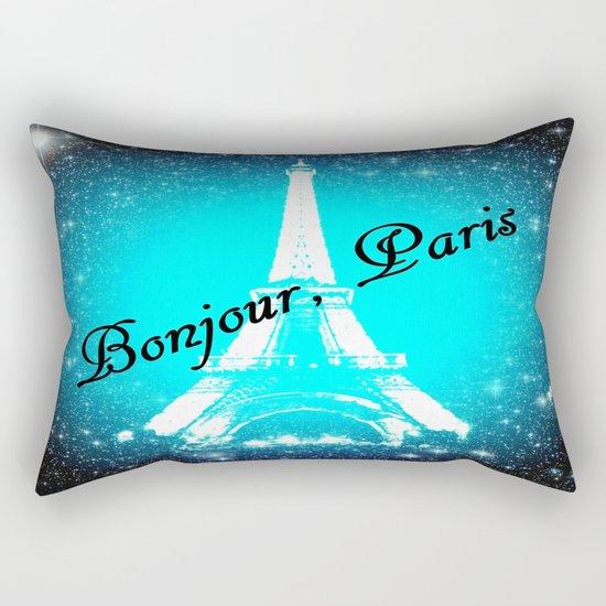 Bonjour, Paris! Rectangular Pillow