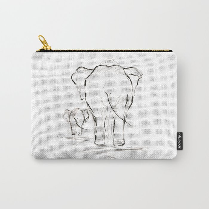 Elephants. Carry-All Pouch
