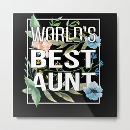 Aunt Spring Flowers Pregnant Godmother Floral Metal Print