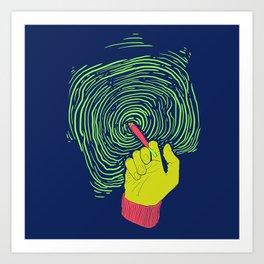 Space Spliff Art Print