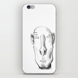 Head sketch 01 iPhone Skin