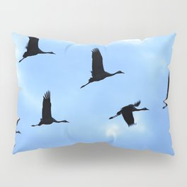 Welcome back! Cranes in flight #decor #society6 Pillow Sham