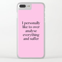 Overthinking Humour Clear iPhone Case