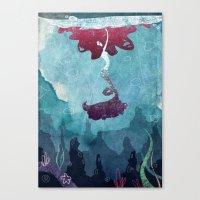 mermaid Canvas Prints featuring Mermaid by Serena Rocca