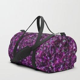 Closeup of amethyst gem pattern Duffle Bag