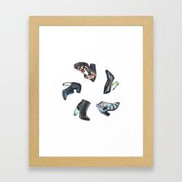 Watercolor Miista Shoes Framed Art Print