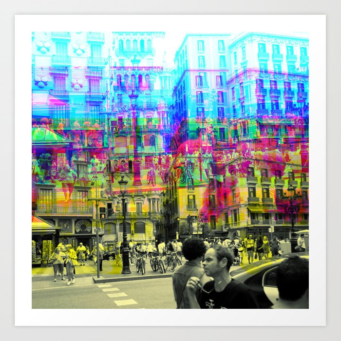 As an example of a result in spite of the process. Art Print