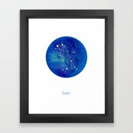 Constellation Gemini Framed Art Print