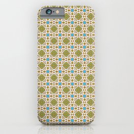 Venetian Blue and Gold Pattern iPhone Case
