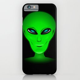 Green Alien Head iPhone Case