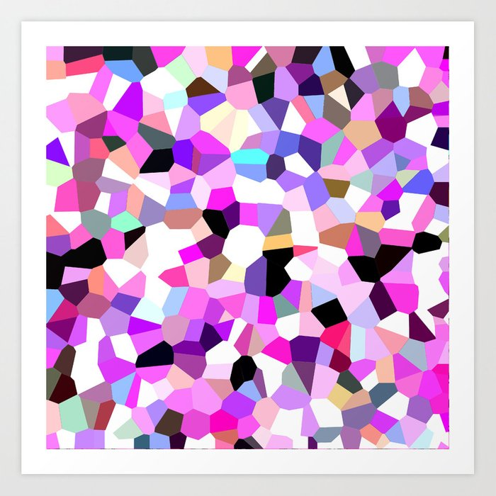 Modern Abstract Geometric Pattern Pink Teal Pastel Art ...