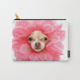 Chihuahua Flower Carry-All Pouch
