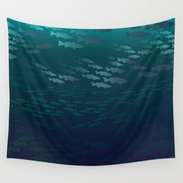 Fish Under The Storm Wall Tapestry