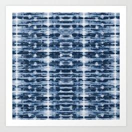 X-Ray Shibori Stripes Art Print