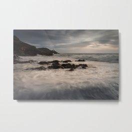 Sea foam on Bracelet Bay Metal Print