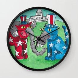 Washington DC Cats Wall Clock