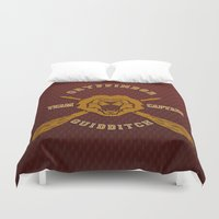 quidditch Duvet Covers featuring Gryffindor quidditch team iPhone 4 4s 5 5c, ipod, ipad, pillow case, tshirt and mugs by Three Second