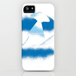 bigfoot water ski with loch ness monster funny  iPhone Case