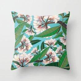 Plumerias Throw Pillow