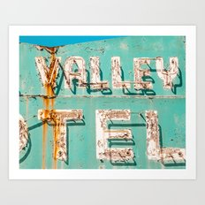 Valley Tel Art Print