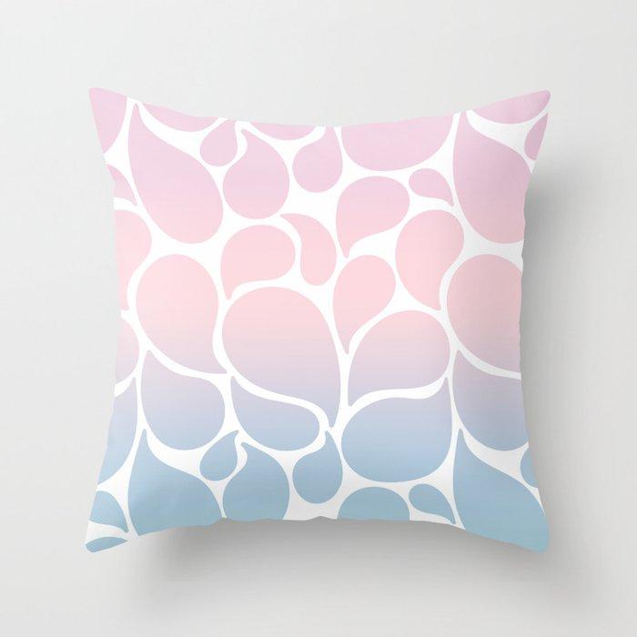 Happy Drops Throw Pillow