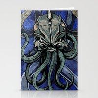 kraken Stationery Cards featuring Kraken by Spooky Dooky