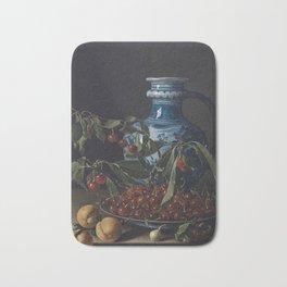 MELÉNDEZ, Luis (Nápoles, Italia, 1716-Madrid, 1780) Bodegón con frutas y un jarro Bath Mat
