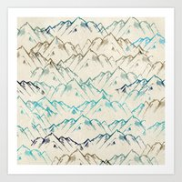 mountains Art Prints featuring Mountains  by rskinner1122
