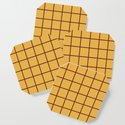 Grid Pattern Brown and Yellow by tonymagnerdesign