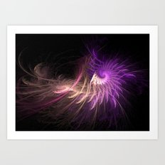 Spiralled Feathers Art Print