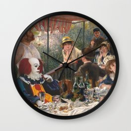 IT's Pennywise in Luncheon of the Boating Party Wall Clock