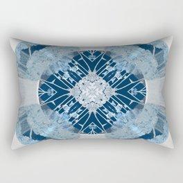 Microchip Mandala in Blue Rectangular Pillow