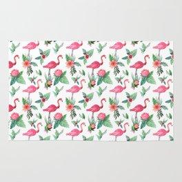 Flamingo Floral Tropical Rug