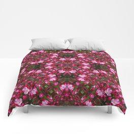 Spring blossoms kaleidoscope - Strawberry Parfait Crabapple Comforters