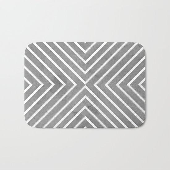 Stripes in Grey Bath Mat