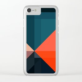 Geometric 1713 Clear iPhone Case