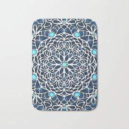 Eight Fold Mandala 6 in Blue Bath Mat