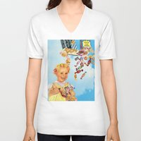 candy V-neck T-shirts featuring candy by •ntpl•