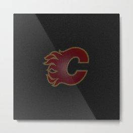 CalgaryFlames Logo Metal Print