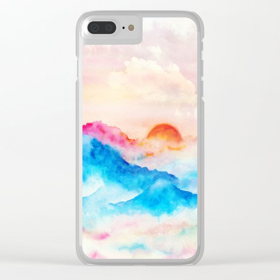 Sunset w.01 Clear iPhone Case