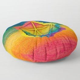 LGBT D20 Icosahedron of a Dream Floor Pillow
