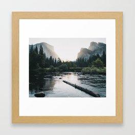Summer Sunrise in Yosemite Valley Framed Art Print