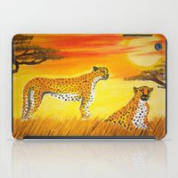 tigers iPad Cases featuring Tigers Sun by ArtSchool