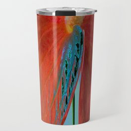ABSTRACT FLORAL LANDSCAPE Travel Mug