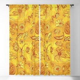Botanicals in Mustard Yellow Blackout Curtain