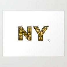 SNOW NY - PM Art Print