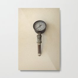 The Forgotten Workshop series- Pressure Gauge Metal Print
